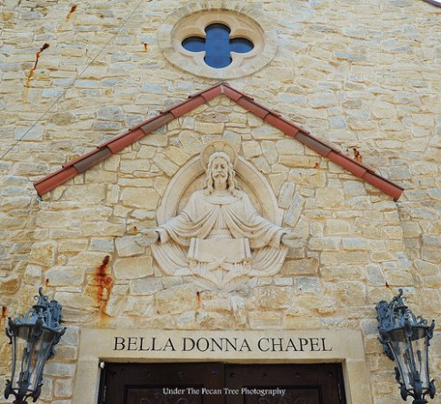 Jesus above the entrance of the chapel