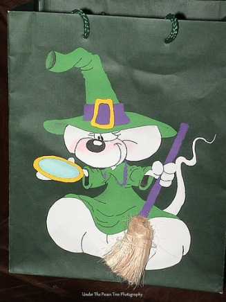 "Katelynn's ""Trick-or-Treat"" bag, I made for her."