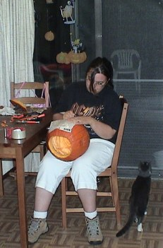 The annual pumpkin carving is a big tradition in our house. (2007)