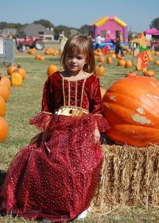 Katelynn at the Pumpkin Patch (2010)