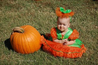 Sara at the Pumpkin Patch (2010)