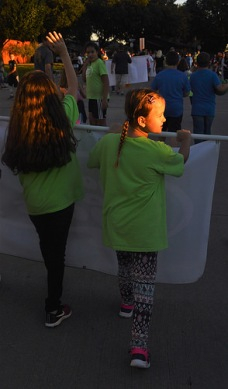 Sara' had so much fun with her school friends in The Colony Homecoming Parade.