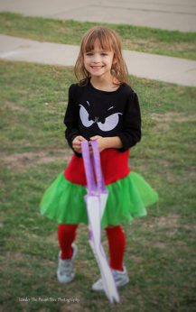 Katelynn is ready for Trick-or-Treat
