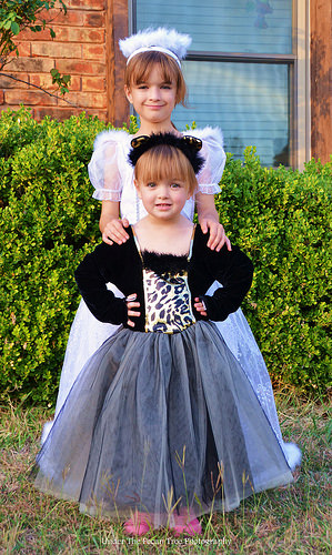 Katelynn and Sara are ready for the daycare Halloween Party.