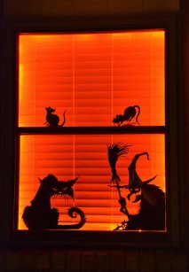Halloween Window Silhouettes (2014)