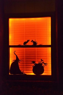 Halloween silhouettes in Sara's Window (2014)