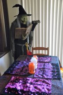 The new witch & the Halloween table setting (2014)