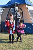 Katelynn and Sara at the Family Fright Night Campout in The Colony. (2014)