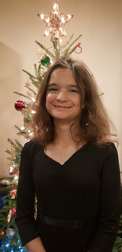 Katelynn performs The Winter Concert in her school's Symphonic Band, tonight. She's excited.