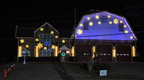 Christmas Lights at The Colony Central Fire Station II