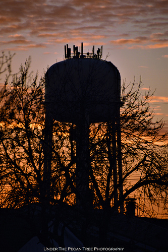 Water Tower Sunset