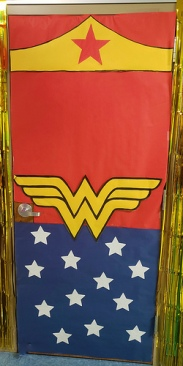 The classroom doors were decorated as well