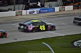 JImmie Johnson will be in the first position on Sunday's MENCS O'Reilly Auto Parts 500 race.