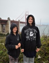 "Sara and Katelynn were in ""Awww"", when they saw the Golden Gate Bridge for the first time."