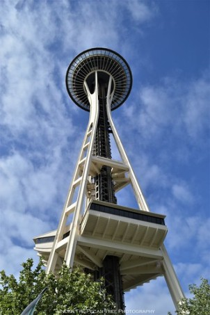 The Space Needle before we went on our journey to the observation deck, which is at 520 feet (160 meters).