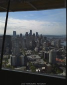Downtown Seattle from the lower level of the Space Needle