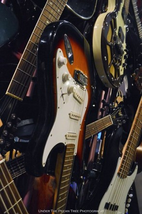 Electric guitars and bass are a part of the Guitar Tornado