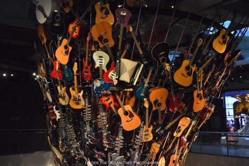 The Guitar Tornado photographed from the upper level