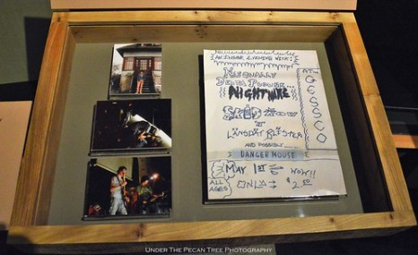 Some of the tour photos and doodles on one of the Nirvana tours