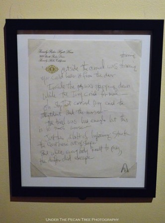 Hendrix's Handwriting
