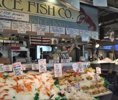 The Fish Throw at the Pure Food Fish Market
