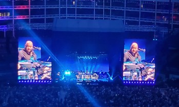 Paul McCartney's drummer touring drummer, Abe Laboriel, Jr. , is hilarious. He almost, ... almost stole the show. :D