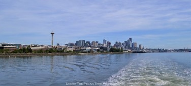 Seattle's beautiful skyline seen from northwest on Puget Sound