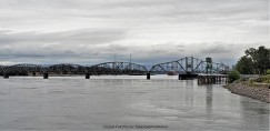 Train Bridge across Columbia River
