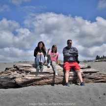 Katelynn, Sara and Kevin at the beach by the Thomas H. Kuchel Visitor Center