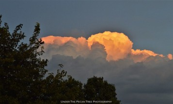 Storm clouds before sunset out in the east from our house.