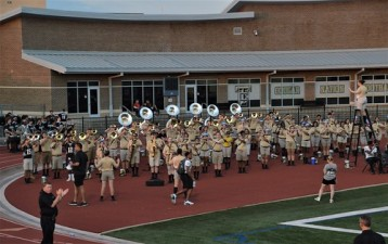 The Colony High School Band in their football stadium II