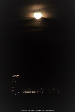 The Skyhouse Frisco Station and tonight's Full Moon