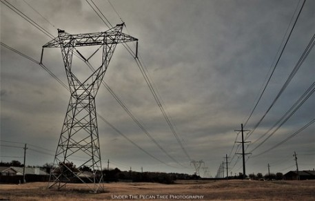 Transmission towers throughout the community