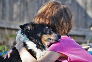 """The true and unconditional love of a dog: """"When you feel sad or hurt, you just give me a hug! I'll always be there for you, Sara! Pinky-Paw Promise!"""" (2015)"""